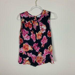 Tahari | Floral print blouse size small
